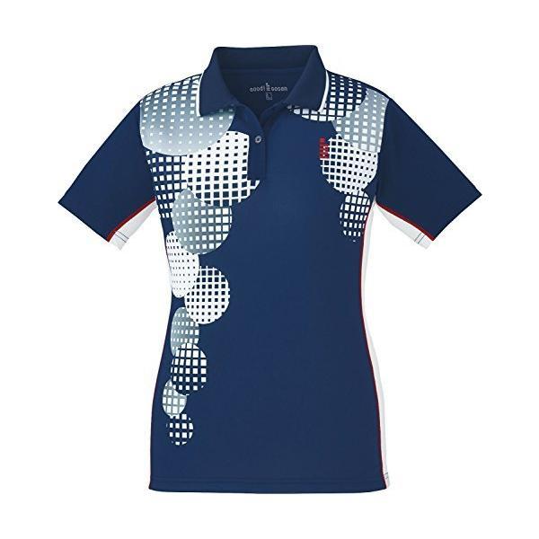 ゴーセン(GOSEN) ソフトテニス バドミントン レディース ゲームシャツ T1803 ネイビー(17) Sサイズ