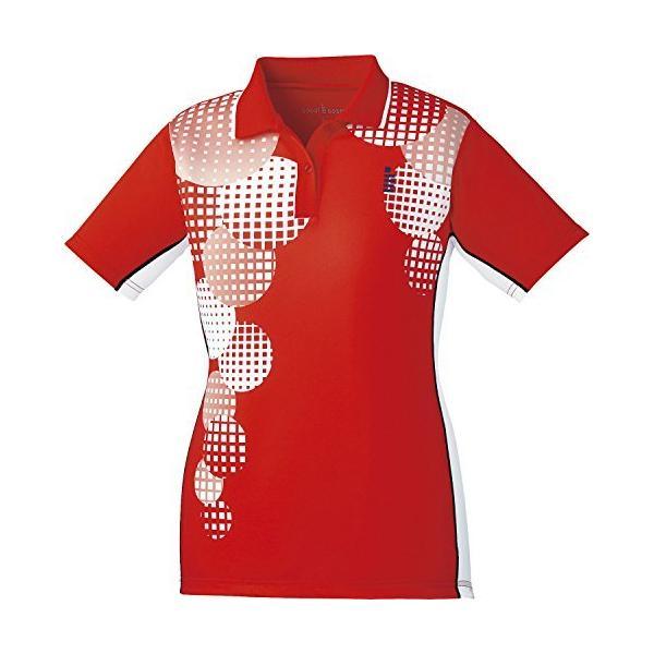 ゴーセン(GOSEN) ソフトテニス バドミントン レディース ゲームシャツ T1803 レッド(27) Mサイズ