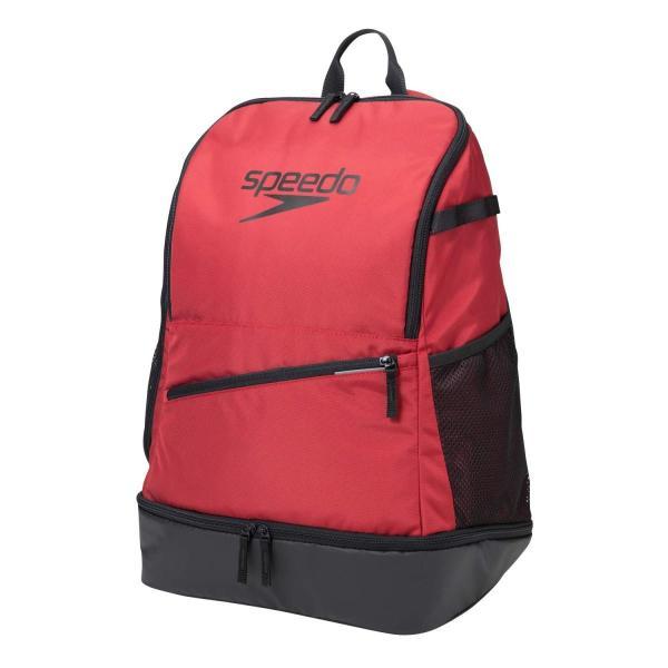 Speedo(スピード) スイマーズリュック プールバッグ FS PACK 水泳 トレーニング 30L SE22007 レッド F