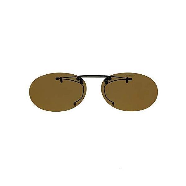 SWANS(スワンズ) サングラス メガネにつける クリップオン 偏光レンズ 跳ね上げタイプ SCP-3 BR2 偏光ブラウン2
