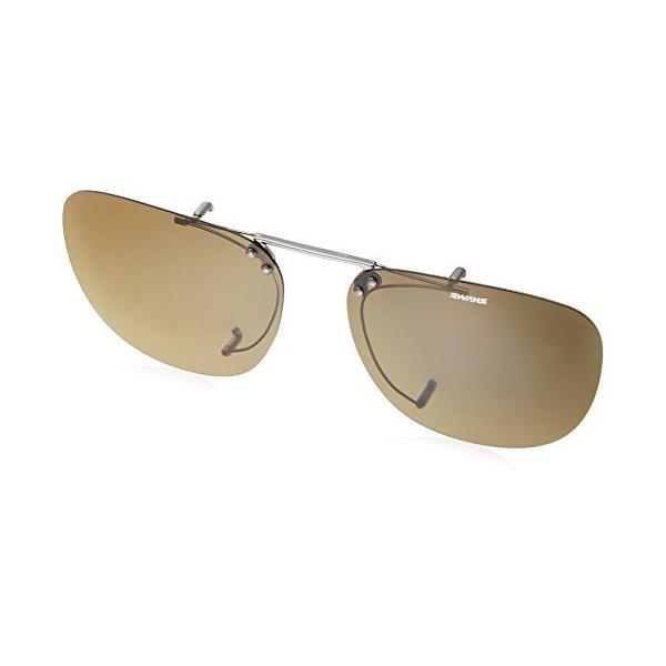 SWANS(スワンズ) サングラス メガネにつける クリップオン 跳ね上げタイプ SCP-5 BR2 偏光ブラウン2