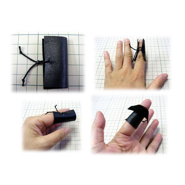 ■ちくちく羊毛かんたん指サック(本皮製・手作り限定品)Mサイズ|hituji-komono|02