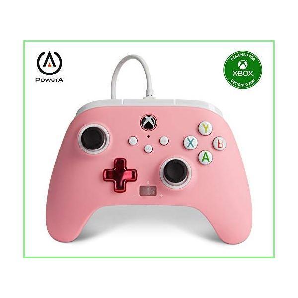 PowerAEnhancedWiredControllerforXbox-Pink,Gamepad,WiredVideoGame