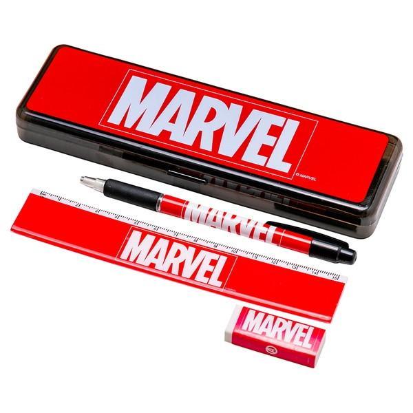 マーベル ペンケース シャープペン 消しゴム 15cm定規セット 筆箱 文具 キャラクター ディズニー MARVEL セット