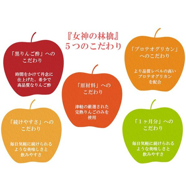 女神の林檎 500mL・プロテオグリカン・黒りんご酢・無添加・カネショウのりんご酢|hizuya|03