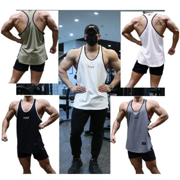 送料無料 メンズ トレーニングウェア タンクトップ ノースリーブ ジムウェア ボディビル フィットネスTシャツ マッスルフィット 吸汗速乾 スポーツ