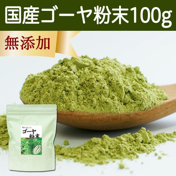 国産ゴーヤ粉末100g 沖縄産 青汁 サプリメント 無添加 まるごと 丸ごと 100% ゴーヤー パウダー 苦瓜 にがうり|hl-labo