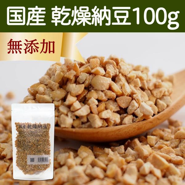 乾燥納豆 100g ドライ納豆 国産 フリーズドライ 挽き割り納豆