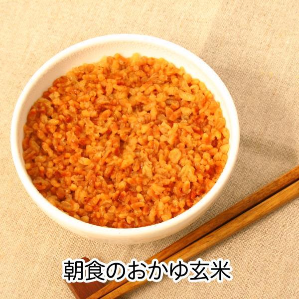 【当日】朝食−おかゆ玄米