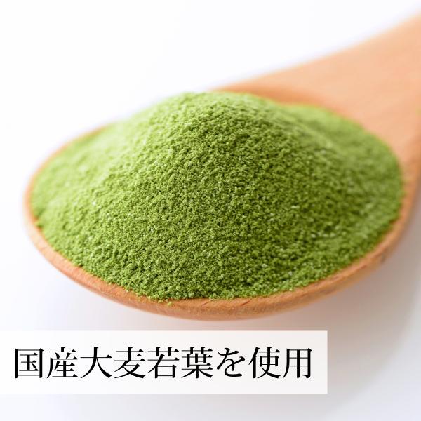 国産・大麦若葉粉末100g×2個 無添加 100% 青汁スムージーに 野菜不足の方に 無農薬|hl-labo|03