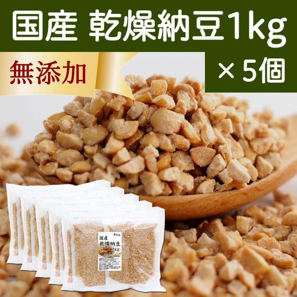 国産・乾燥納豆1kg×5個(250g×20袋) 無添加 ドライ納豆 フリーズドライ