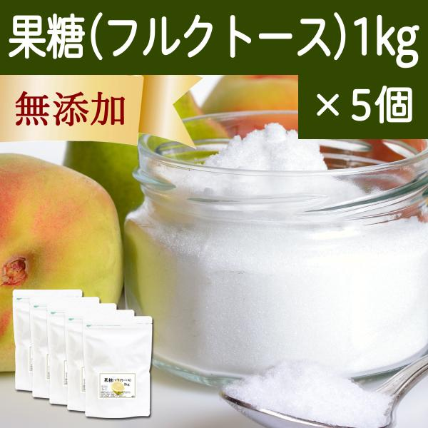 果糖 1kg×5個 フルクトース フラクトース フルーツシュガー 無添加
