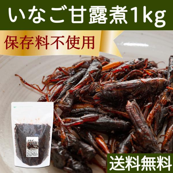 イナゴの佃煮 1kg いなご甘露煮 大袋入り 合成保存料不使用 飴炊き たんぱく質とビタミン 送料無料|hl-labo
