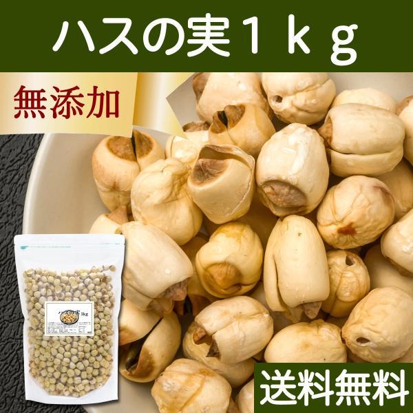 ハスの実1kg 蓮の実 はすの実 アルカロイド 薬膳茶の材料にも 業務用 蓮肉 ハス肉 送料無料 hl-labo