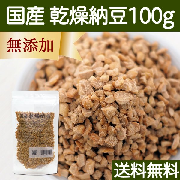 乾燥納豆 100g ドライ納豆 国産 フリーズドライ 挽き割り納豆 送料無料