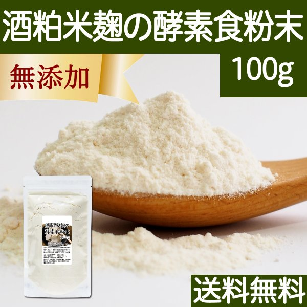 酒粕米麹の酵素食粉末 100g 酒粕 米麹 酒かす 米こうじ 粉末 送料無料