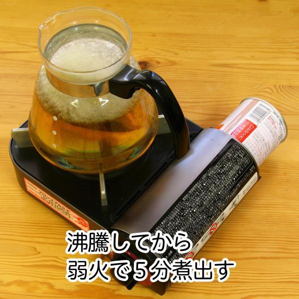 送料無料 国産タラノキ茶6g×30パック×2個 濃厚な煮出し用ティーバッグ サポニン タラの葉使用 ティーパック 自然健康社|hl-labo|05