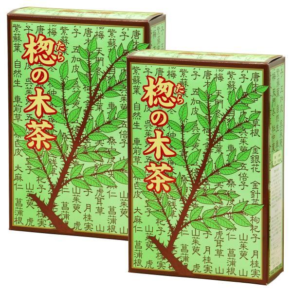 送料無料 国産タラノキ茶6g×30パック×2個 濃厚な煮出し用ティーバッグ サポニン タラの葉使用 ティーパック 自然健康社|hl-labo|10