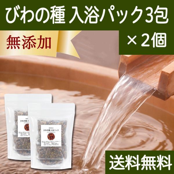 びわの種 入浴パック3包×2個 びわ種 ビワ 種 枇杷 乾燥 刻み 入浴剤 入浴 送料無料