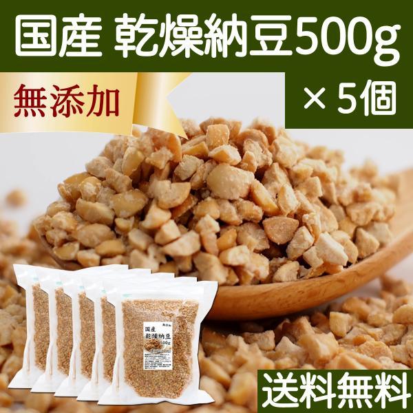 国産・乾燥納豆500g×5個 無添加 ドライ納豆 フリーズドライ 送料無料