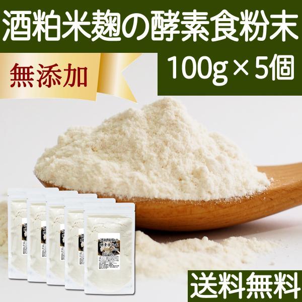 酒粕米麹の酵素食粉末 100g×5個 酒粕 米麹 酒かす 粉末 送料無料