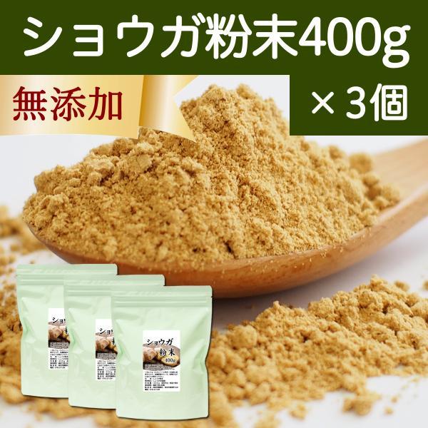 ショウガ 粉末 400g×3個 生姜 パウダー しょうが 粉末 ジンジャー