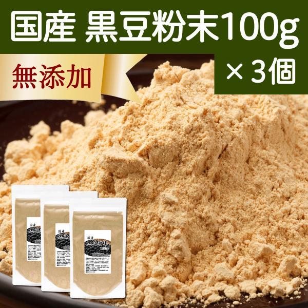 黒豆粉末 100g×3個 黒豆きなこ 国産 きな粉 パウダー