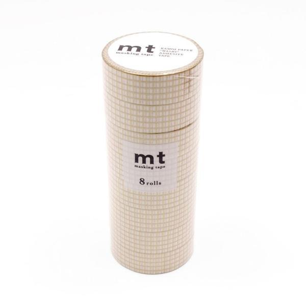 直送品 代引き不可 mt マスキングテープ 8P 方眼・金 MT08D398 ご注文後2〜3営業日後の出荷となります