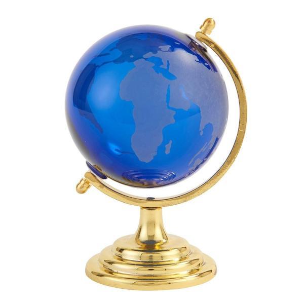 直送品 代引き不可 茶谷産業 Fun Science ガラス地球儀 ブルー 333-450BL ご注文後2〜3営業日後の出荷となります