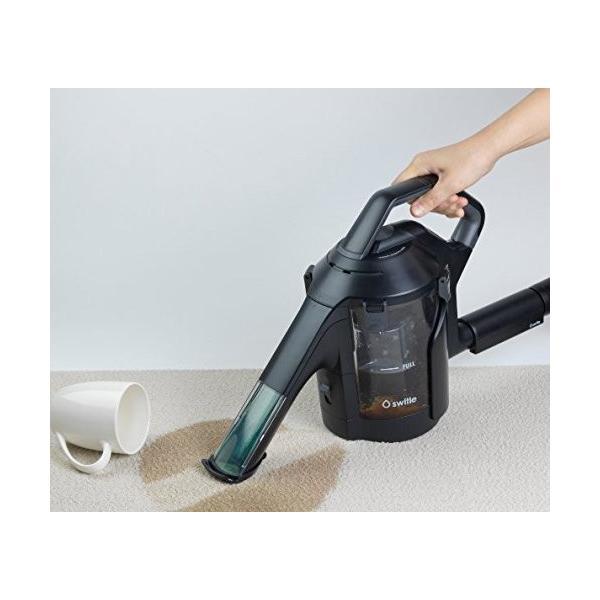 掃除機用水洗いクリーナーヘッド スイトル 水洗い switle ブラック 掃除機 水洗い掃除機 カーペット 絨毯 じゅうたん 食べこぼし 猫 犬 ペット おしっこ