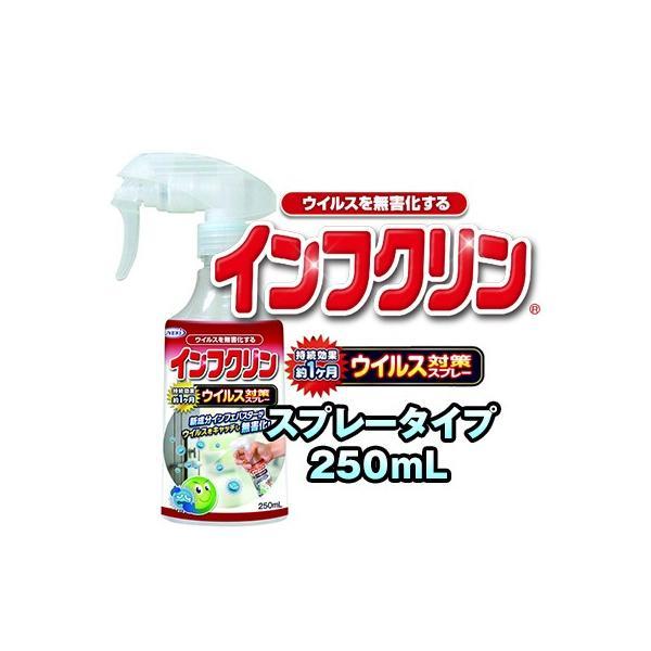 インフクリン 250mL 除菌剤 ウイルス対策スプレー ウイルス対策 スプレー ドアノブ 手すり 便座 蛇口ハンドル スイッチ リモコン