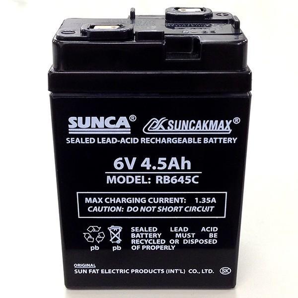 充電式扇風機 専用バッテリー MODEL RB645C 6V 4.5Ah 鉛蓄電池 充電式電池 ヘルシーライフ 宅配便のみ|hlife