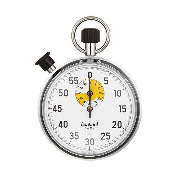 hanhart 新商品 送料無料/新品 新型 ストップウォッチ 60分計 1周60秒 122-6401-00