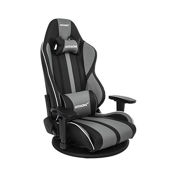 AKRacing ゲーミング座椅子 極坐 毎週更新 ぎょくざ 灰色 大幅にプライスダウン V2 Gyokuza Grey