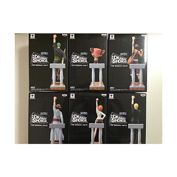 ワンピース DRAMATIC SHOWCASE 1st season vol.2 全店販売中 vol.3 爆安プライス 全6種フルコンプセット vol.1