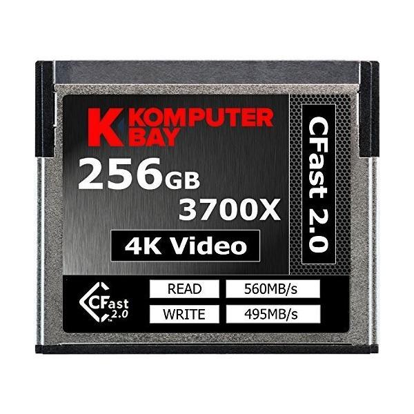 激安セール Komputerbay Professional 3700x CFast 2.0カード 256GB 最大読込 出色 最大書込 制限付無期限保証 s 560MB 国内正規品 495MB