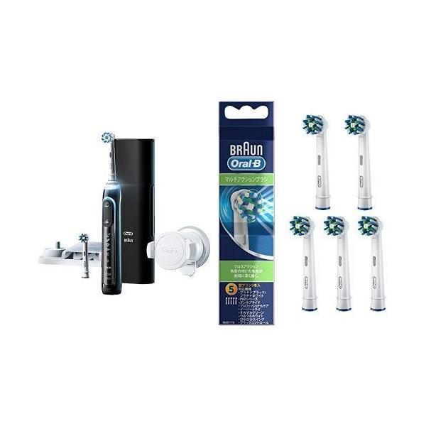 セール特別価格 セット買い ブラウン オーラルB 電動歯ブラシ ジーニアス9000 高級品 ブラック 替えブラシ + マルチアクションブラ