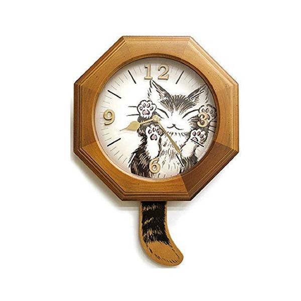通常便なら送料無料 ダヤン 時計 選択 にゃんキュー しっぽ振り子時計