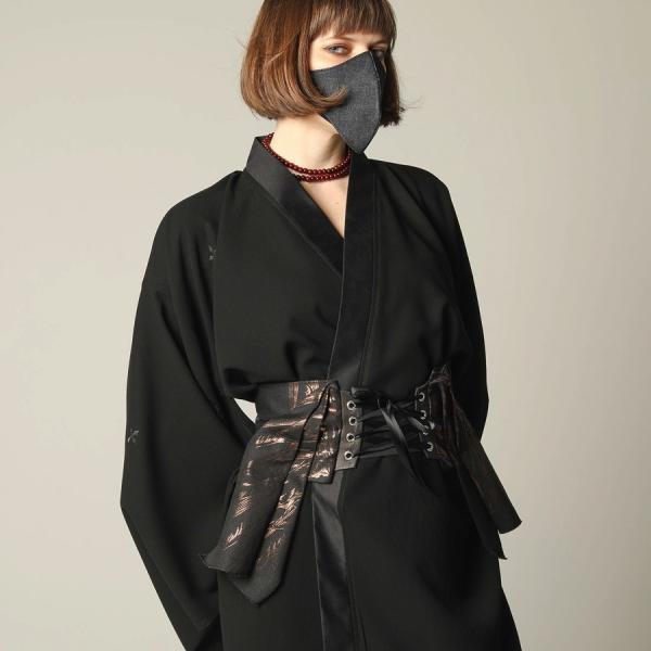 h.NAOTO コルセット リボン帯 ベルト 天使の翼 和ゴス ゴシック Angel Wings Kimono Corset