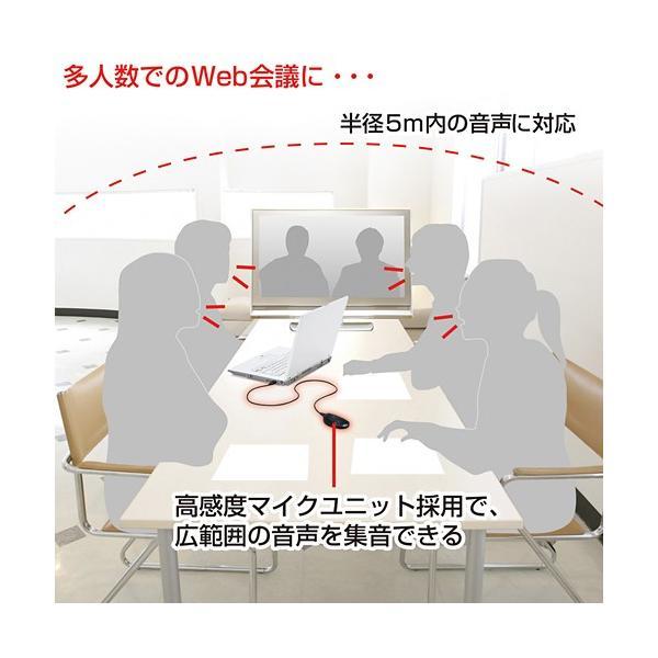 メーカーお取り寄せ WEB会議高感度USBマイク (MM-MCUSB22) サンワサプライ(SANWA SUPPLY)