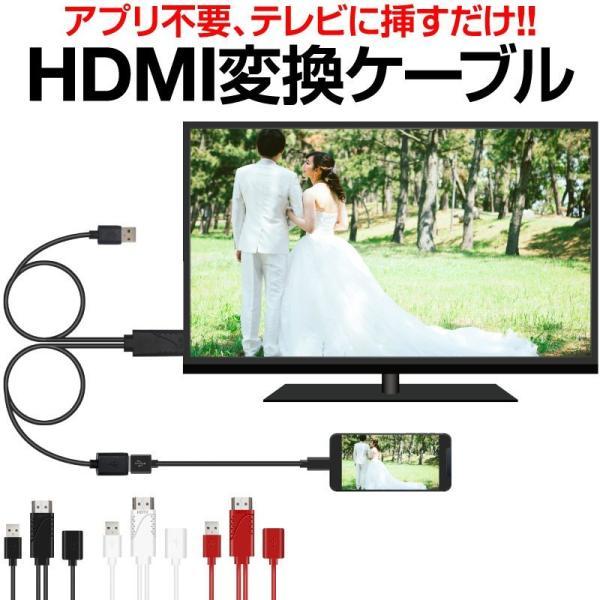 HDMIケーブル変換アダプタiPhoneテレビ接続ケーブルスマホ高解像度LightningHDMIライトニングケーブルHDMI分