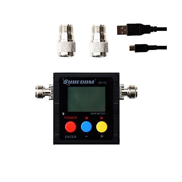 Gam3Gear Surecom SW-102デジタルVHF UHF 125-525Mhzパワー&SWRメーター