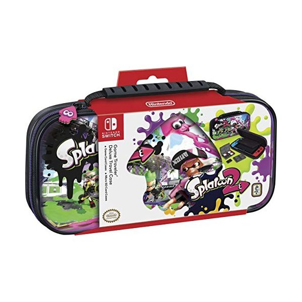 Nintendo Switch Game Traveler Deluxe Travel Case - Splatoon - Nintendo Swit|hobipoke