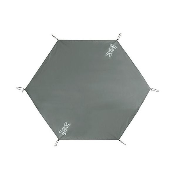 DOD(ディーオーディー) ワンポールテント用グランドシート(3人用)260cm×220cm GS3-561-GY|hobipoke