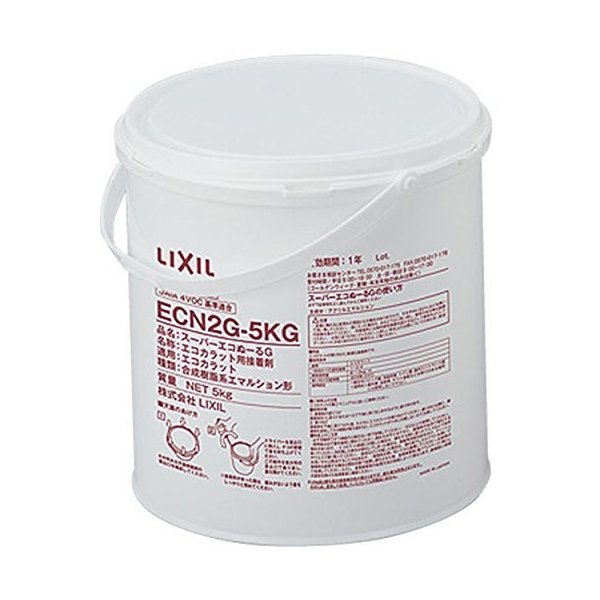 LIXIL(リクシル) INAX エコカラット・エコカラットプラス専用接着剤 スーパーエコぬーるG 5kg 樹脂缶 ECN2G-5KG|hobipoke