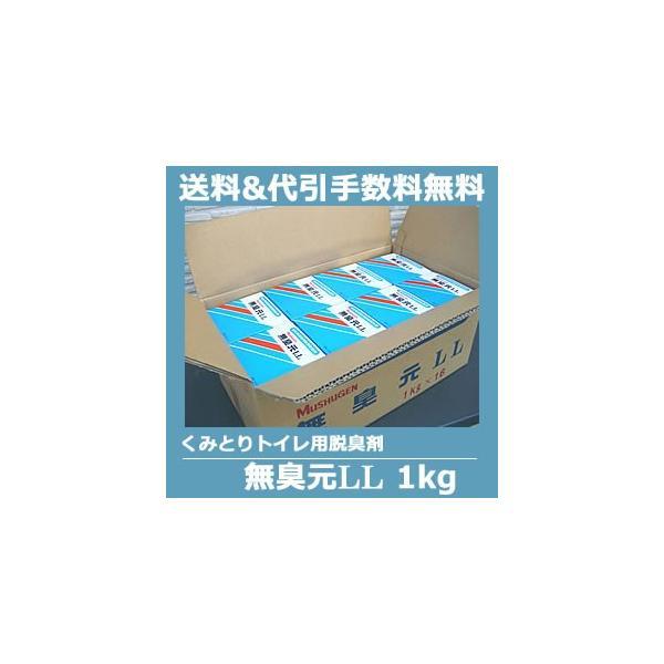 くみとりトイレ・仮設トイレ用消臭剤 無臭元LL 1kg×16箱/ケース