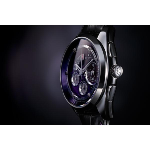 カンパノラ CAMPANOLA メンズ 腕時計  エコ・ドライブ コンプリケーション 宙叢雲 そらのむらくも BZ0030-08W 漆文字盤 hokindo1904 03