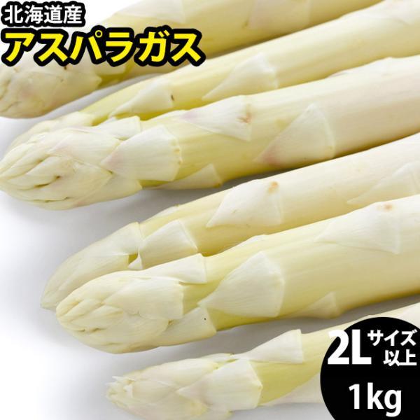 予約受付中 送料無料 北海道産 ホワイトアスパラガス 1kg (2L/3Lサイズ混合) / 白 あすぱら アスパラ 旬 野菜 産地直送 サラダ ソテー 大きいサイズ