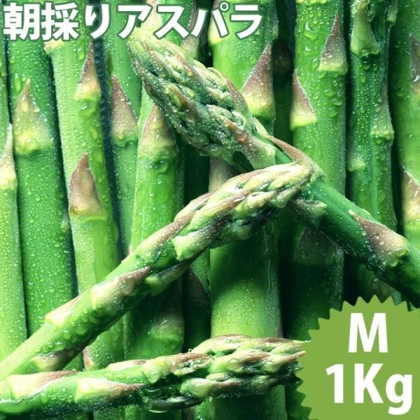 予約受付中 送料無料 北海道産 グリーンアスパラガス 1kg Mサイズ / 国産 国内産 産地直送 お取り寄せ 新鮮 ギフト 旬 露地物 野菜 北海道 緑 グリーン 春野菜