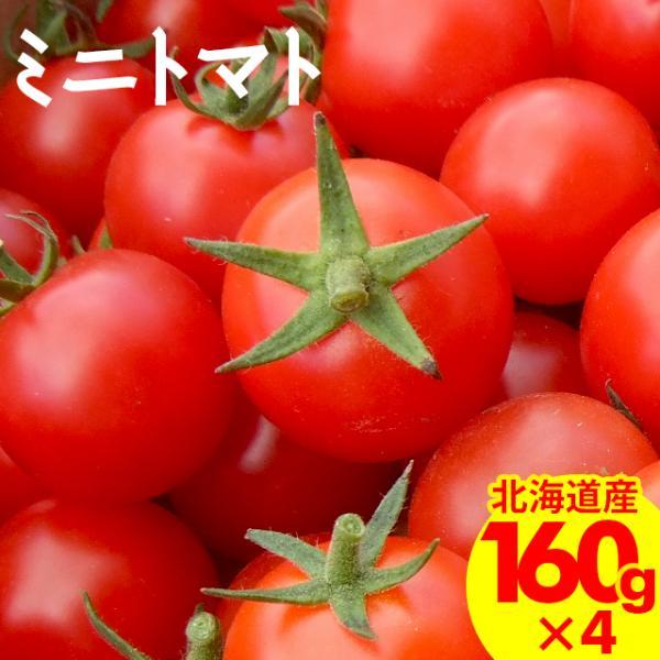 敬老の日 プレゼント 北海道産 南幌町明るい農村ネットワーク ミニトマト ギフト用 160g×4p入り /  野菜 旬 フルーツトマト とまと 甘い 高糖度